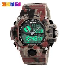 compare prices on mens camo watch online shopping buy low price new 2016 quartz digital camo watch men dual time man sports watches men skmei s shock
