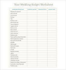 24 Wedding Budget Templates Free Sample Example Format