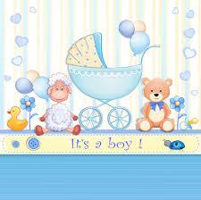 elegant boy baby cards cute design