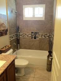Small Picture Small Bathroom With Alcove Bathtub Shower Combo and LimeStone Wall