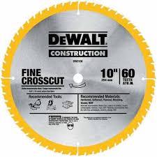 dewalt dado blade. when you need fine cross cuts for your woodwork projects, a quality finish blade like the 10-inch dewalt dw3106p5d60i. dewalt dado