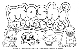 Small Picture Moshi Monsters Coloring Pages Coloring Pages Yoall 139000 Moshi