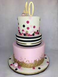 Kate Spade Inspired 40th Birthday Cake By Lettherebecakecom