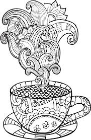 Coffee Mug Free Coloring Pages For Cup Page 7943 Printables Caf And