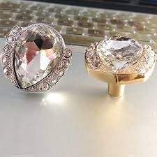 crystal furniture knobs. Modern Fashion Diamond Crystal Furniture Knobs Gold Silver Drawer Cabinet Dresser Furmiture Door Handles Pulls