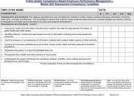 Employee Self Assessments Amazing Public Health Competency Based Employee Performance Management Self