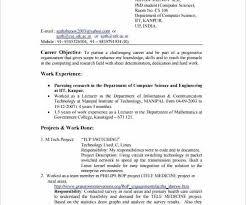 Microsoft Word Resume Format Gorgeous Resume Format In Ms Word 44 For Freshers PelaburemasperaK