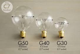 G30 Bulb Size Chart Christmas Light Bulb Size Chart Elegant Guide To Globe