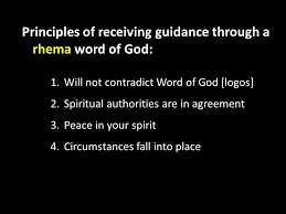 principles of receiving guidance through a rhema word of