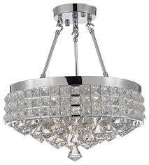 semi flush mount french empire crystal chandelier chrome