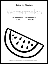 Everyone loves color by numbers, kids and adults alike. Free Printable Color By Number Printable Watermelon Coloring Page The Art Kit