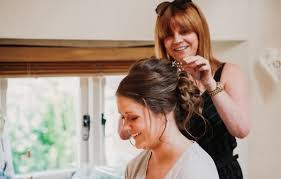 to get hair done for a wedding
