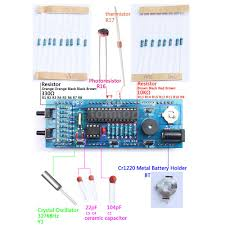 with this digital clock diy kit you can make a nice clock by yourself with transpa case components can be well protected and the clock looks stylish