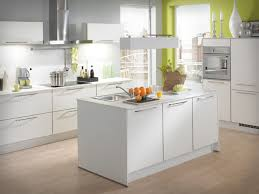 White Kitchen Modern Kitchen Stylish Kitchen Design With Light Brown Backsplash And L