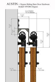 bypass sliding barn door hardware locking barn door rolling door track