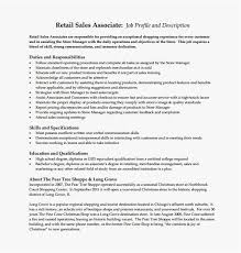 Retail Sales Associate Resume 2018 Sales Associate Job Description