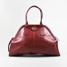 details about gucci red leather top handle rebelle satchel bag