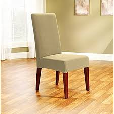 sure fit stretch honeyb shorty dining room chair slipcover beach house tan sf40473