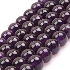 8mm round natural amethyst gemstone beads strand ... - Amazon.com