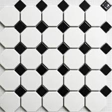 Concept Black And White Ceramic Tile Floor Mosaic Matt Wall Inside Ideas