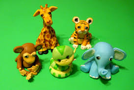 Cake Decorating Animal Figures Baby Shower Or Birthday Safari Jungle Animals Cake Topper