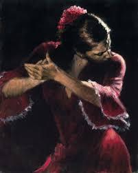flamenco dancer study for flamenco