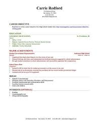 Resume Templates High School Students No Experience Student Resume
