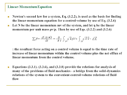 28 linear momentum equation