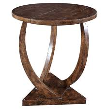 Wooden Side Table Curve Wooden Side Table Scenario Home