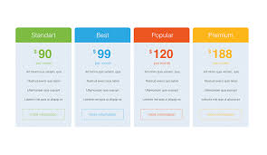 Pricing Template Pricing Tables Keynote Template Free Download Now