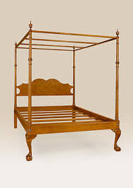 KING SIZE FOUR Poster Canopy Bed Frame Traditional Style Bedroom ...