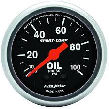 amazon com auto meter 4327 ultra lite electric oil pressure gauge auto meter 3321 sport comp mechanical oil pressure gauge