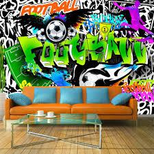 Fotobehang Football Graffiti Voetbal Karo Art Vof