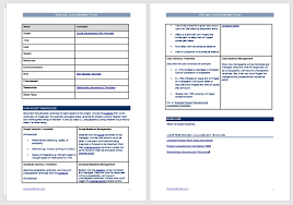 Project Management Plan Template Free Download