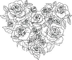 Coloring Pages Hearts And Roses Coloring Pages Hearts Roses And