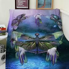 Dream Catcher Blankets Blanket Dream Catcher Spirit Of The Dragonfly Comfort Soft Cozy 65