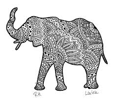 Small Picture Printable 21 Elephant Mandala Coloring Pages 8919 Paisley
