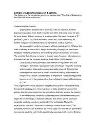 academic writing for publication sample of academic research writing