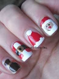 Misch's Beauty Blog: NOTD December 8th: Santa Nail Art