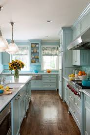 blue kitchen cabinets will show awesome look