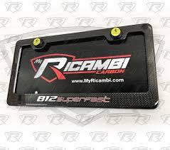 Page 1 of 3 1 2 3 next > robb moderator. Ferrari 812 Superfast Carbon Fiber License Plate Frame With Oem Emblem
