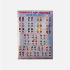 Medals And Ribbons Chart Ribbon And Medal Chart Archives Army Training Store