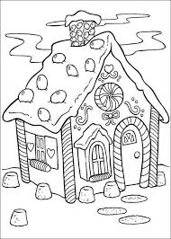Gingerbread House Coloring Pages For Children Coloring For Kids 2019