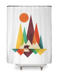 cool shower curtains. product title: great outdoors hero shot cool shower curtains