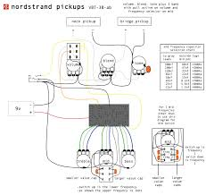 schematics nordstrand pickupsnordstrand pickups this shows the preamp all the bells and whistles including an active passive push pull on the volume and 2 mid frequencies on a push pull