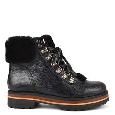 kanna mery black leather hiking boot