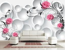 trusted wall paper design custom modern wallpaper 3 d circle rose papel de parede hotel restaurant living room sofa tv bedroom in from home for image indian