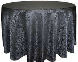 great 120 inch black damask round banqueting wedding tablecloth event within round black tablecloths ideas