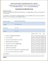Word Forms Templates Ms Word Printable Customer Feedback Form Template Word