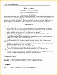 Professional Skills For Sales Resume Sidemcicek Com